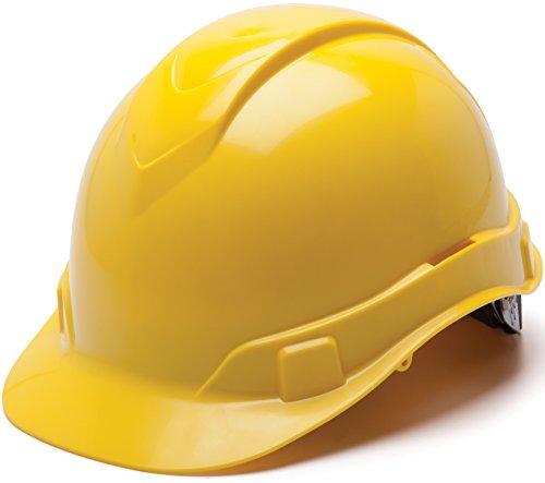 Pyramex Ridgeline Cap Style Hard Hat, 6 Point Ratchet Suspen