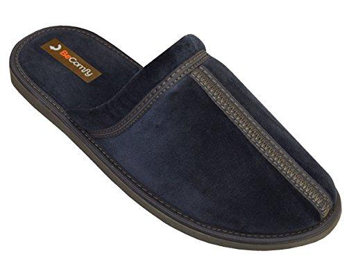 Bawal - Zapatillas de estar por casa de algodón para hombre Blau-Box