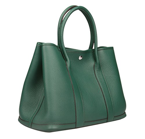 Green Leather Handbag - 8