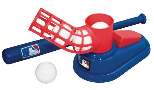 (Franklin Sports MLB Baseball Pop A Pitch - Includes 25 Inch Collapsible Plastic Bat and 3 Plastic Baseballs)