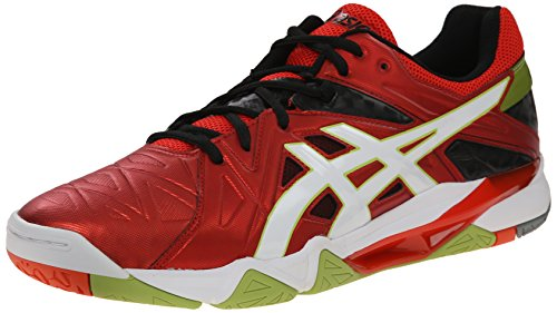 ASICS Men's Gel-Cyber Sensei, Cherry Tomato/White/Black, 11.5 M US