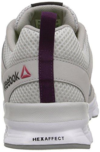 Reebok Womens Hexaffect Run 3.0 Mtm Scarpa Da Corsa Acciaio / Grigio Stagno / Orchidea Celeste / Bianco / Lega