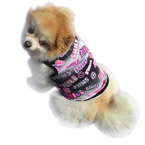 Hot Sale! Pet Clothes Vest Cute Summer Puppy Small Dog Cat Pet T Shirt Apparel Doggy Spring Summer T-shirt (XS, Black)