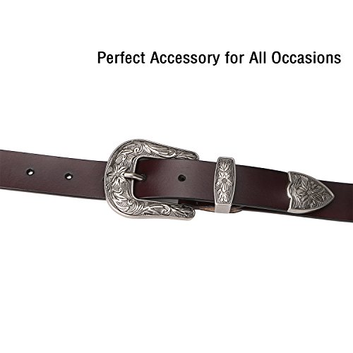 Cowgirl Jeans Belts for Women,SUOSDEY Vintage Genuine Leather Belts for Women
