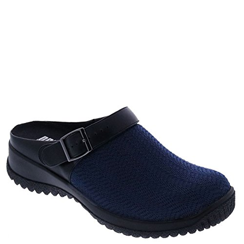 Black WIDE X and Savannah Drew Navy Stretch Black 13 mules clogs Women's vExwUqwpz
