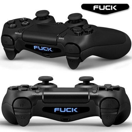 SKINOWN-PS4-Pair-of-Word-Fuxk-LED-Light-Bar-Vinyl-Decal-2PCS-Sticker-Cover-Skins