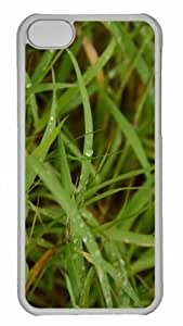 Customized iphone 5C PC Transparent Case - Dew On Grass 2 Personalized Cover