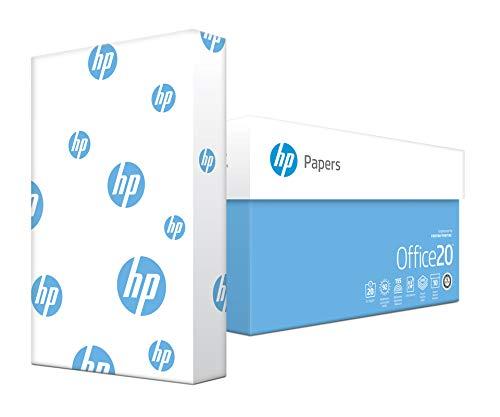HP Printer Paper, Office20 Paper, 8.5x14, Legal Size, 20lb, 92 Bright,  10 Ream Case / 5,000 Sheets (001422C) Acid Free Paper