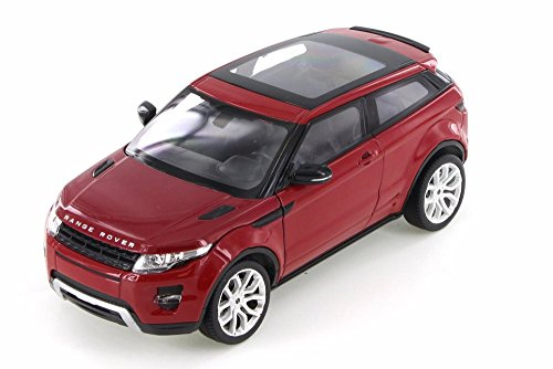 Welly Land Rover Range Rover Evoque SUV w/ Sunroof, Dark Red 24021/4D - 1/24 Scale Diecast Model Toy Car but NO Box