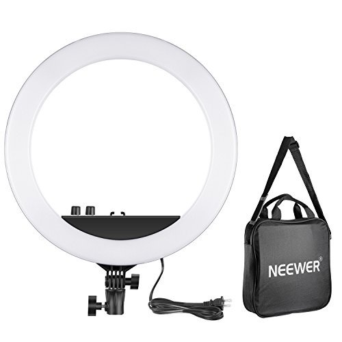 - Neewer 14-inch Outer Dimmable Bi-Color LED Ring Light 30W 3200k-5600K Small Ring Light for Photo Portrait Photography, Make Up, YouTube Video Shooting