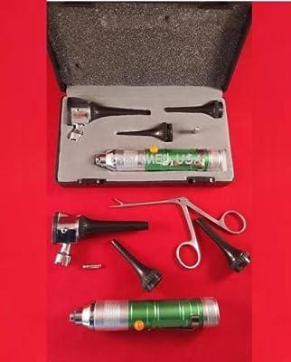 New LED LENS Fiber optic Veterinary Otoscope kit +1 MICRO FORCEP +1 BULB