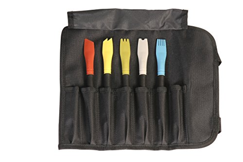 Mercer Culinary Silicone Plating Brush Set - 5 Brushes and a Carrying Case ()