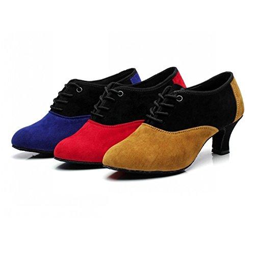 YFF Cadeaux femmes Dance danse danse latine Dance Tango chaussures 5.5CM,red,35