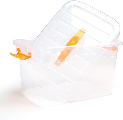 IVHJLP Cajas de almacenaje Caja de Almacenamiento Grande de plástico Grande Transparente/Caja de Almacenamiento de Ropa de Juguete portátil - Cajas Fuertes y apilables: Amazon.es: Hogar