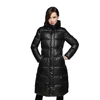RSTJ-Sjc Women's Winter Down Jacket Long Section Hooded