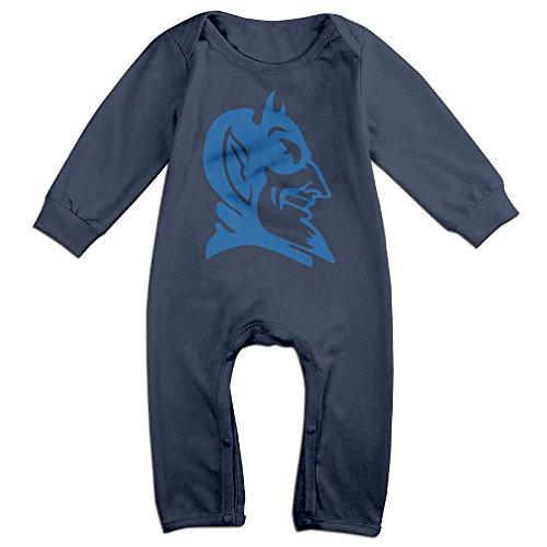 [TLK Newborn Duke Blue Devils Long Sleeve Jumpsuit Outfits 18 Months] (Devil Girl Outfit)