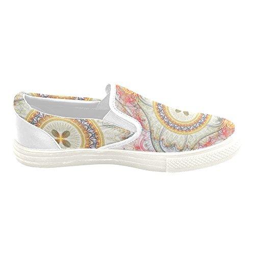 D-histoire Custom Sneaker Fractal Clockwork Avec Des Femmes De Fleur Inhabituelle Slip-on Chaussures En Toile