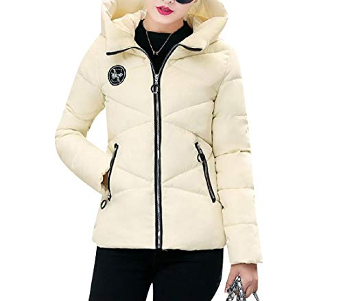 Jacket Hoode Off Coat Classics Outdoor Thickened Down White Slim Mini XINHEO Women vawz4at