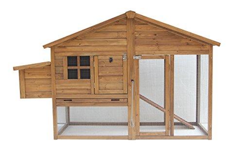 Exacme-Lovupet-74-Wooden-Chicken-Coop-Backyard-Nest-Box-Hen-House-Rabbit-Wood-Hutch-6010-0304