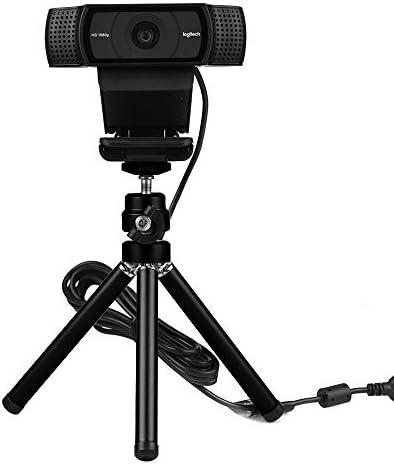 Amazon.com: Lightweight Mini Webcam Tripod for Smartphone, Logitech Webcam C920 C922 Small Camera Desk Tripod Mount Cell Phone Holder Table Stand (Black): Computers & Accessories