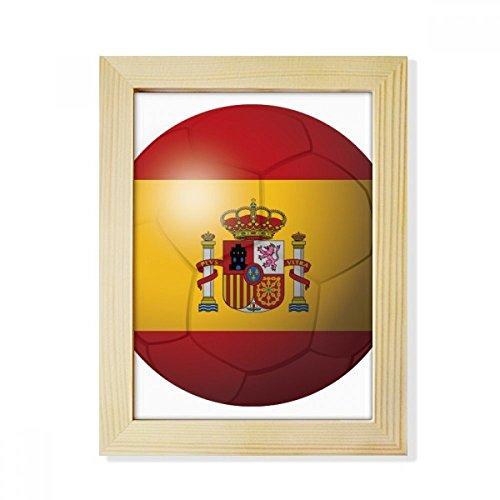 DIYthinker Spain National Flag Soccer Football Desktop Wooden Photo Frame Picture Art Painting 6x8 inch by DIYthinker