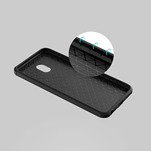 Meizu MX6 Kasten, CaseFirst Ultra Thin Anti-Klopfen Gummi Case Shockproof Soft Silikon Schutzmaßnahmen zurück Fall Deckung für Meizu MX6 (Hellgrau) Schwarz