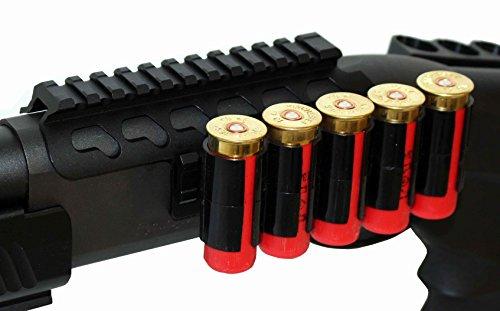 Remington 870 12GA Pump Action Shotgun Scope Saddle Mount With Shell Holder.