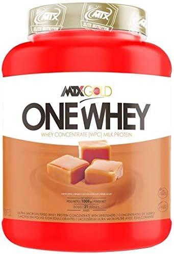 MTX nutrition OneWhey [998 Gr] 2,2 Lbs. Milk Caramel Proteína PREMIUM (WPC) de suero ultrafiltradas ricas en microfracciones activas que apoyan el ...