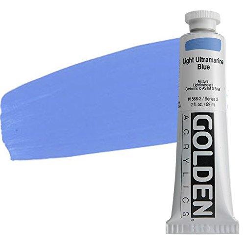 2 Oz Heavy Body Acrylic Color Paints Color: Light Ultramarine Blue