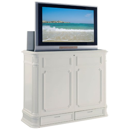 TV Lift Cabinet Extra Large for 40-52 inch Flat Screens (White) by TV Lift Cabinet