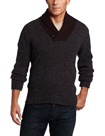 Benson Men's Tweed Cowl Neck Sweater, Charcoal, X-Large
