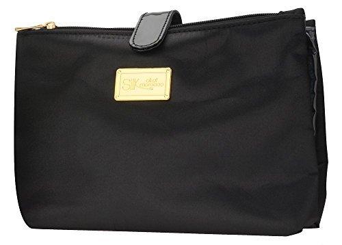 Seide Öl von Marokko Luxus Travel Bag in schwarz-Beauty Case/Kosmetiktasche/WC Tasche/Luxus Reisetasche/Makeup-Tasche mit einem Satin Finish CykxJ