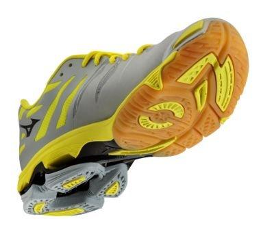 Amazon.com | Mizuno Womens Wave Lightning Z Grey-Yellow Volleyball Shoe 9.5 B(M) US | Shoes