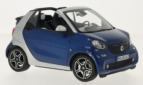 Smart Smart Smart Fortwo Cabrio, blau/silber, 2015, Modellauto, Fertigmodell, Norev 1:18 e0a60b