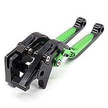 Rzmmotor CNC Aluminum Folding Extendable Adjustable Brake Clutch Levers for KAWASAKI VERSYS 1000 15-17,VULCAN/S 650cc 15-16
