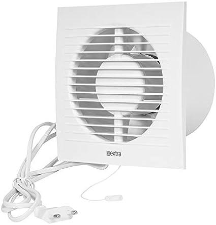 Pared Ventilador Canalizado Cable Interruptor Ventilador Cocina inodoro baño 125mm de diámetro ee125wp