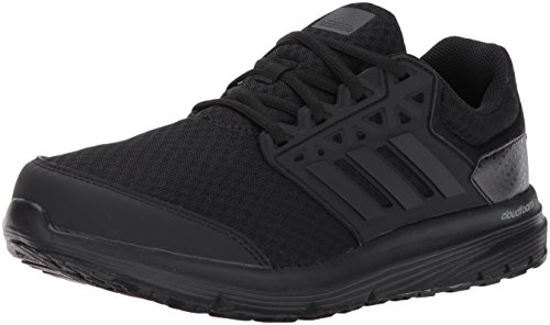 adidas Men's Galaxy 3 Wide m Running Shoe, Black/Black/Black, 8 W US