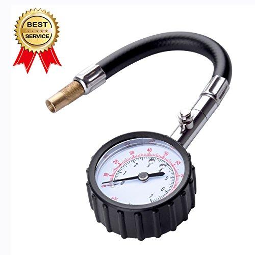 Onesen Tire Pressure Gauge 100PSI, Heavy Duty High Accuracy Black Air Pressure Gauge For Car Truck and Motorcycle Air pressure tire gauge by Onesen