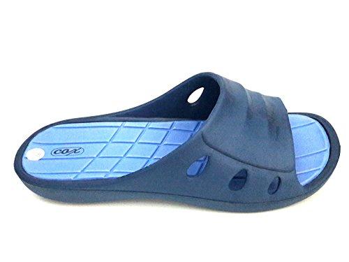 COX - Zapatillas de estar por casa de goma para hombre negro negro negro Size: 48 wEHeE4ZKZ