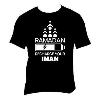 FMstyles - Ramadan Recharge Your Iman Unisex Black Tshirt - FMS247