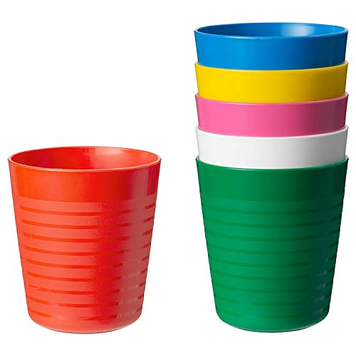 Ikea Kalas 101.929.56 BPA-Free Tumbler, Assorted Colors, 6 Count, 1- Pack ()