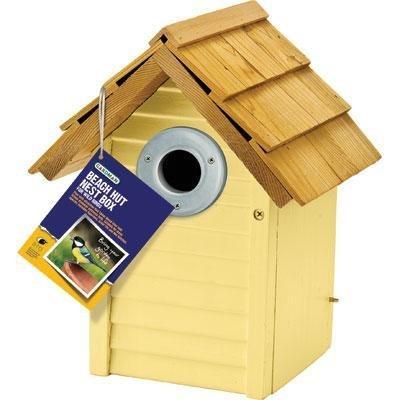 Beach Hut Nest Box Yellow