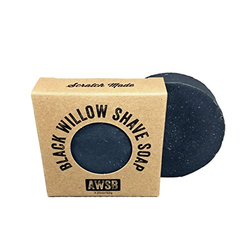Black Willow All Natural, Vegan, Organic Shave Soap for Smooth Shaving, Handmade by A Wild Soap Bar