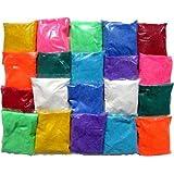 Shree Seller's Set of 10 pkts Design Creativity Diwali Floor Rangoli Art Colors 500gm Multicolour, Rangoli Color Powder. (10)