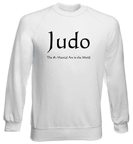 Judo Uomo Bianca shirtshock Wtc1302 Girocollo Felpa T pwfqYf
