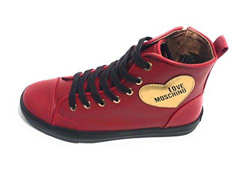Love Moschino W.Sneakers, Zapatillas Altas para Mujer Rojo