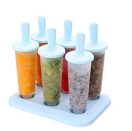 Primi útil DIY silicona Crema moldes de hielo de paleta de hielo/Stick (azul