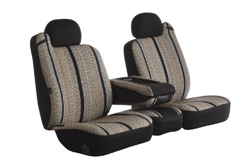 Fia TR48-27 BLACK Custom Fit Front Seat Cover Split Seat 40/20/40 - Saddle Blanket, (Black)