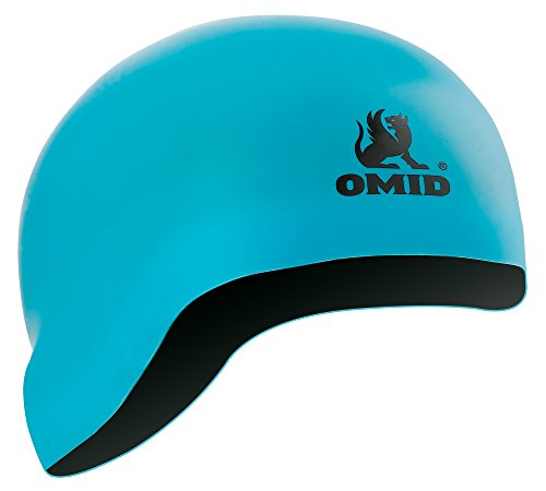 OMID Premium Silicone Swim Cap 2-IN-1- Reversible - Both Sides Wearable - Wrinkle-Free - for Men and (Wrinkle Free Silicone Cap)