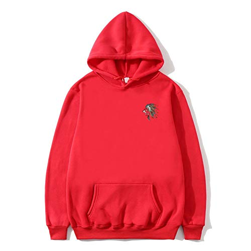 romantico Hoodies Men Long Sleeve Hoodie Harajuku Sweatshirt Mens Casual Clothing Hoody Pullover Jacket,18 red,XL ()